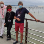 Photo des auteurs avec masque