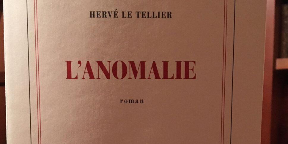 """Couverture du livre """"L'anomalie"""""""