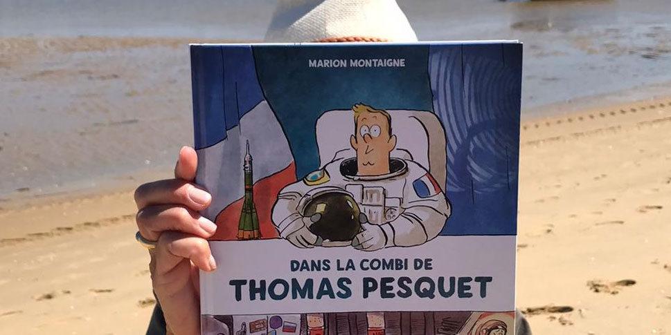 """Couverture de """"Dans la combi de Thomas Pesquet"""""""